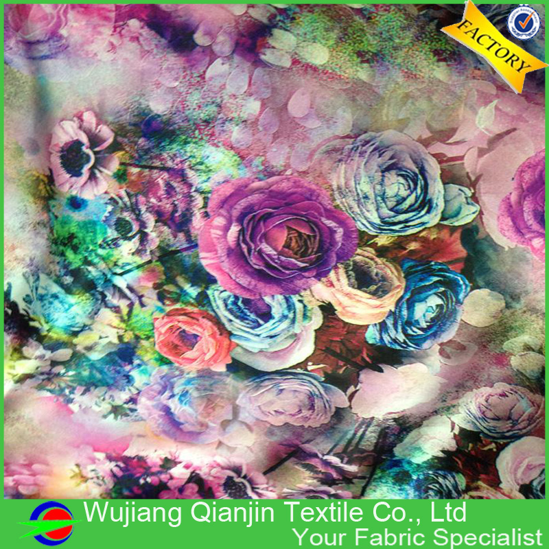ᗗFábrica proporciona directamente 100% poliéster floral tapicería