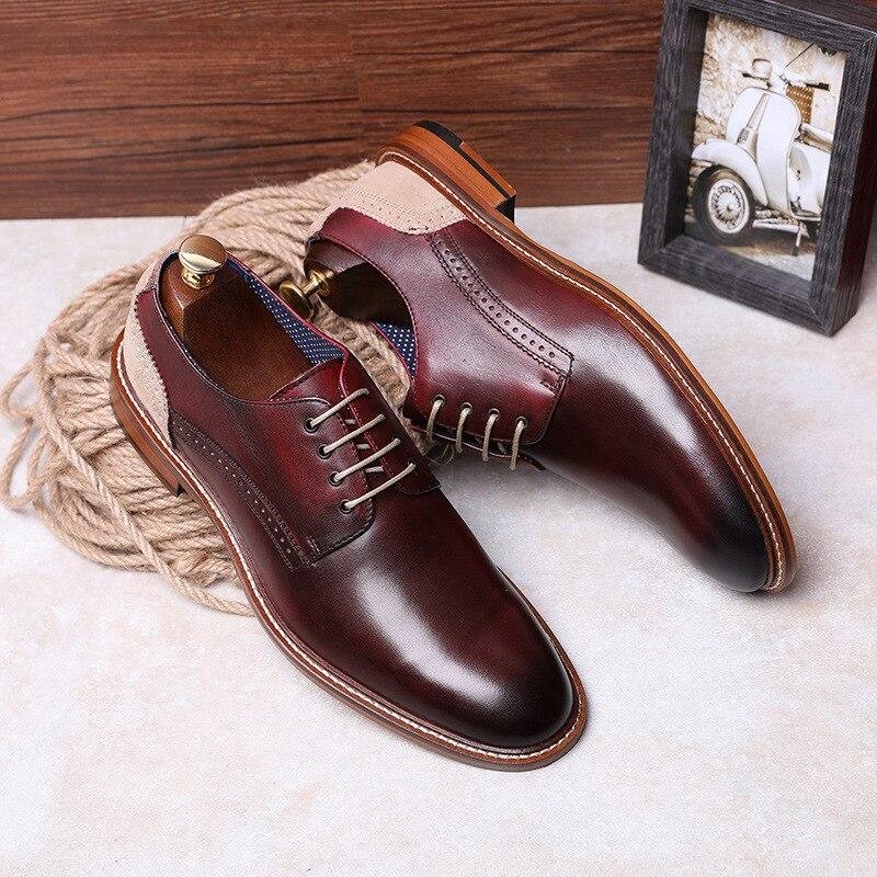 Ayakk.'ten Resmi Ayakkabılar'de DESAI Marka erkek ayakkabısı yüksek kalite hakiki deri ayakkabı Erkekler iş elbisesi Lüks Erkek Deri Elbise erkek ayakkabısı boyutu 38 43'da  Grup 1