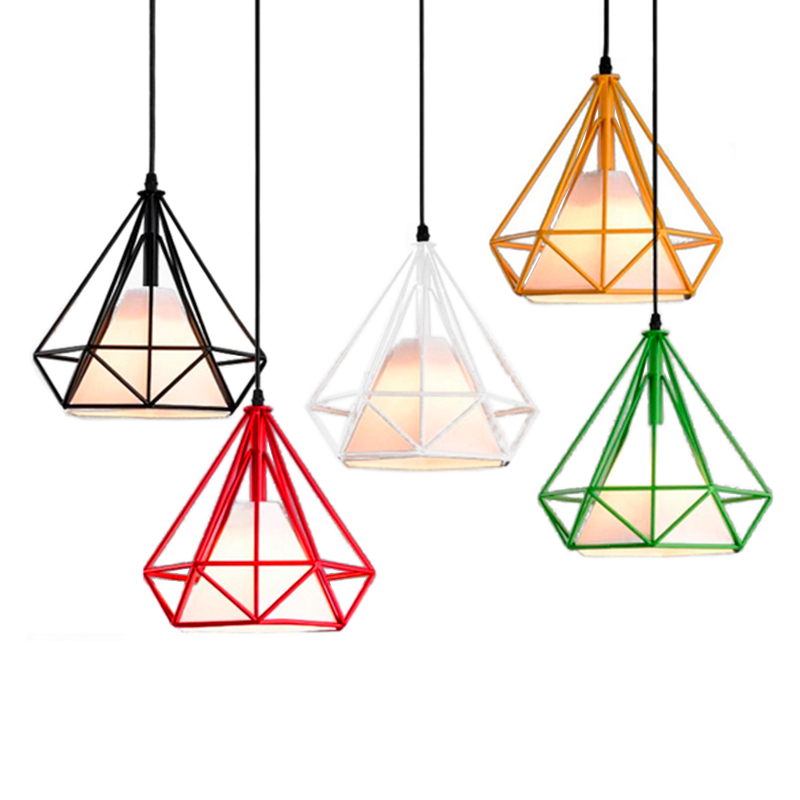 1 Piece New Style Iron Finished Vintage Pendant Light Lamp Birdcage Pendant Light Without Bulbs free shipping one sample order new style geometrical figure simple iron black finished pendant lamps dk 60