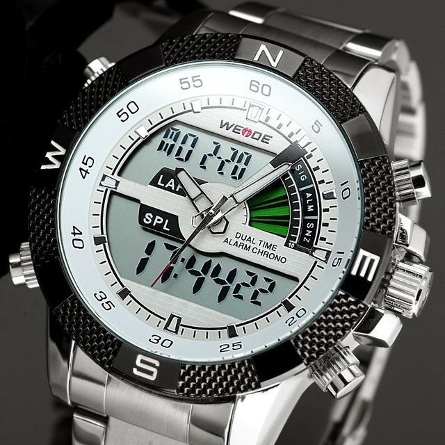 2016 New Watches Men Luxury Brand WEIDE Men's Quartz  LED Digital Clock Man Army Military Sports Wrist Watch Relogio Masculino