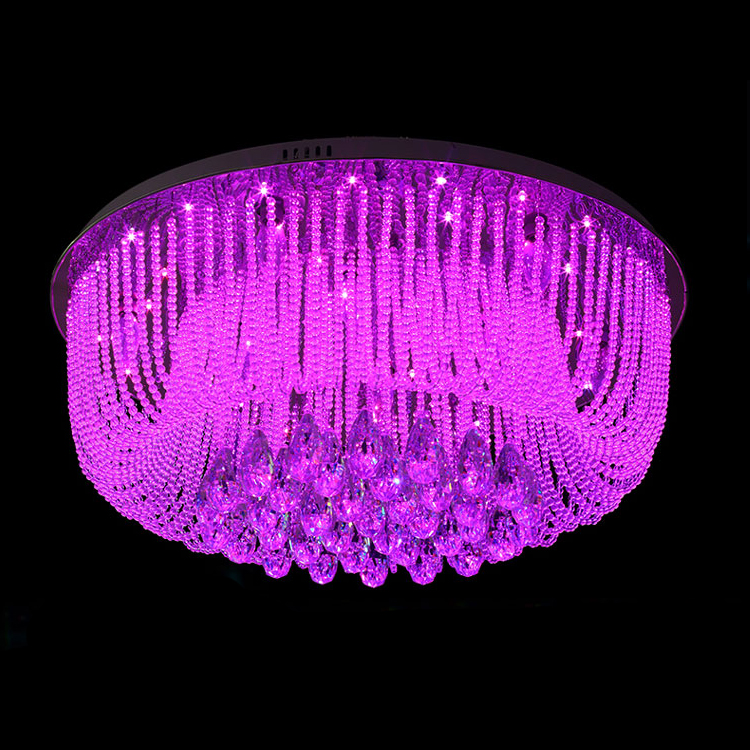 Top Luxury Modern Crystal Light Chandelier For Living Room Dia80cm ...