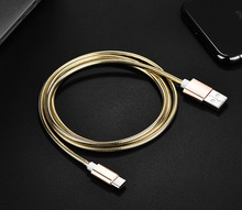New Style Type-C Spring Data Cable Micro data cable Andriod Zinc Alloy Case 2A Fast Charge Mi Pure Metal