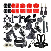 Gopro Accessories Set Outdoor Sports Kit Go pro Accessories for Gopro Hero 4 3+ 3 Sj4000 sjcam Camera xiaomi yi accessories