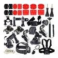 Go pro Accesorios Gopro Accesorios Set Kit Deportes Al Aire Libre para Gopro Héroe 4 3 + 3 Sj4000 sjcam Cámara xiaomi yi accesorios