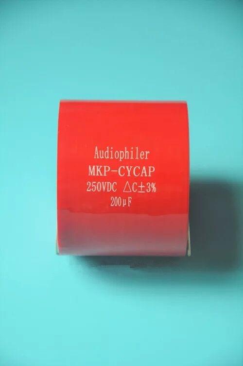 Livraison gratuite 1 Pcs Audiophiler Axial MKP 200 uf 250 v DC HIFI DIY audio pour tubes guitare ampères