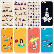 Yoga Poses Hard Clear Phone Case Fashion Cover for Samsung s8 s9plus S6 S7Edge S5 for iPhone 7 6s 8plus 5s 5c 4s X XS XR XSMAX customized diy phone case printed hard clear cover case for apple iphone x xs 8 8plus 7 6splus se 5 for samsung s8 s8plus s7 s6