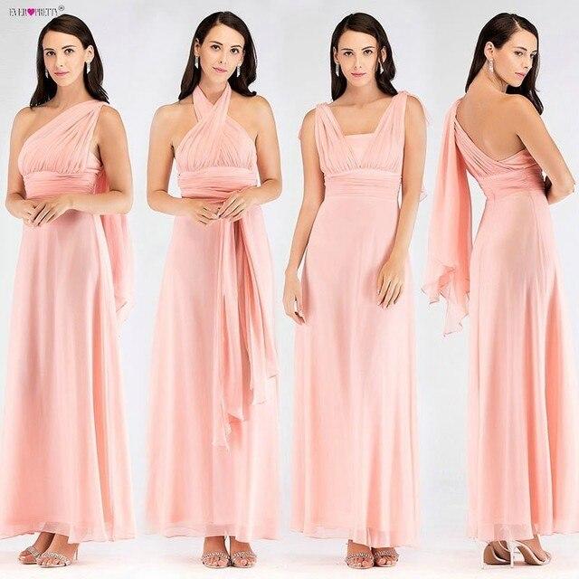 11d9e5f495d Ever Pretty Cheap Long Chiffon Bridesmaid Dresses EZ07582 Vestido da dama  de honra Multiway Wrap Convertible Wedding Party Gowns