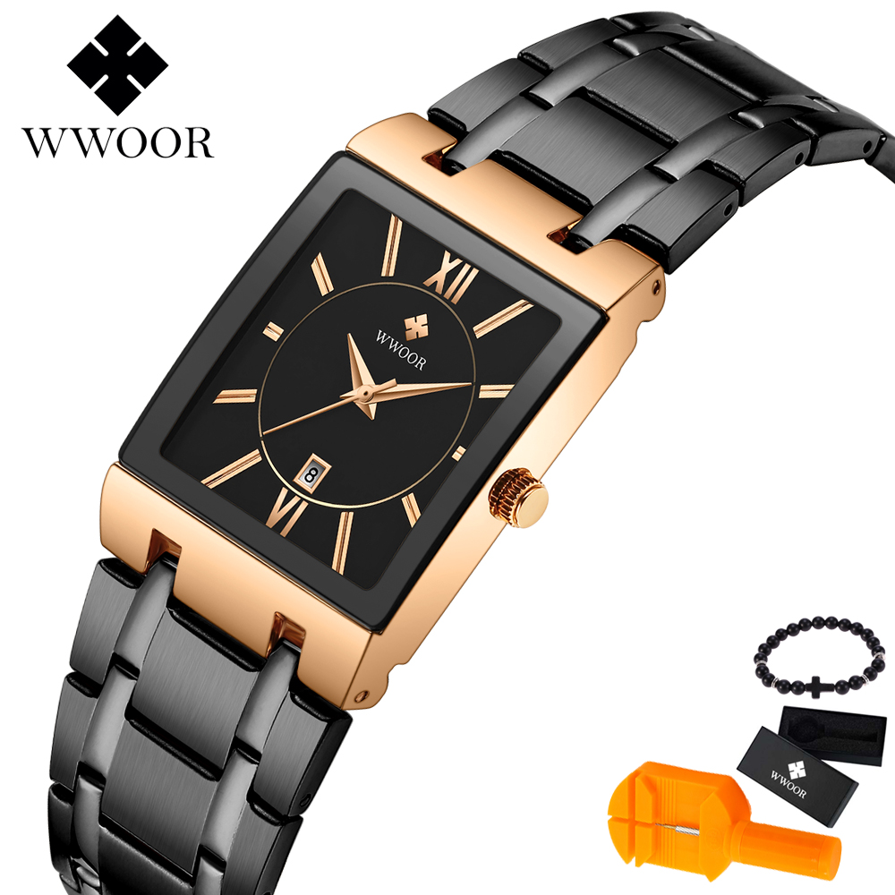 WWOOR Mens Watches Luxury Brand Quartz All steel Waterproof Clock Fashion Sport Business Military Men Watch relogio masculinoWWOOR Mens Watches Luxury Brand Quartz All steel Waterproof Clock Fashion Sport Business Military Men Watch relogio masculino