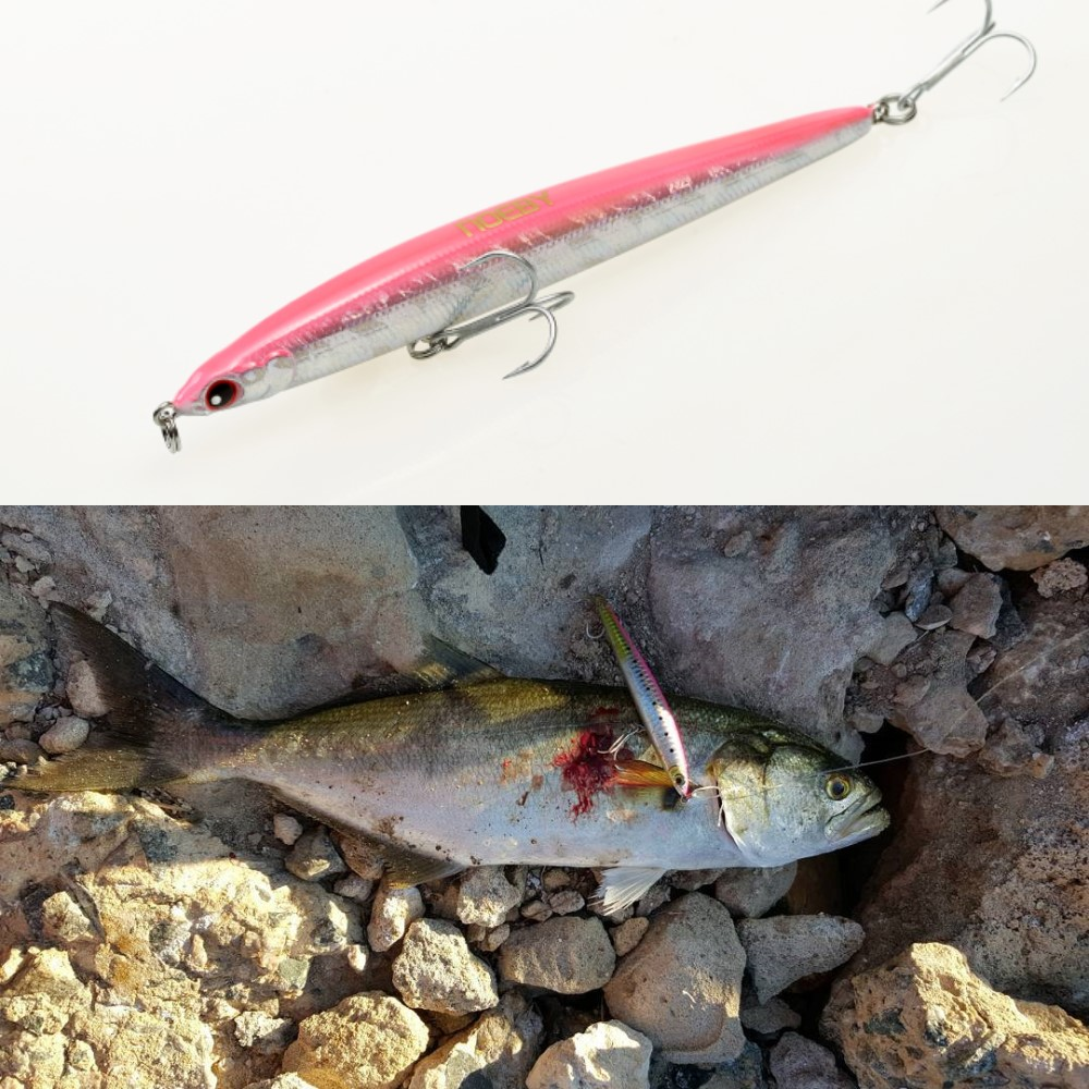 Noeby Sinking Pencil 125mm 21.5g Stickbait Yamashita Maria Blues Code Slim Long Cast Fishing Lure Artificial Wobbler BKK Hook
