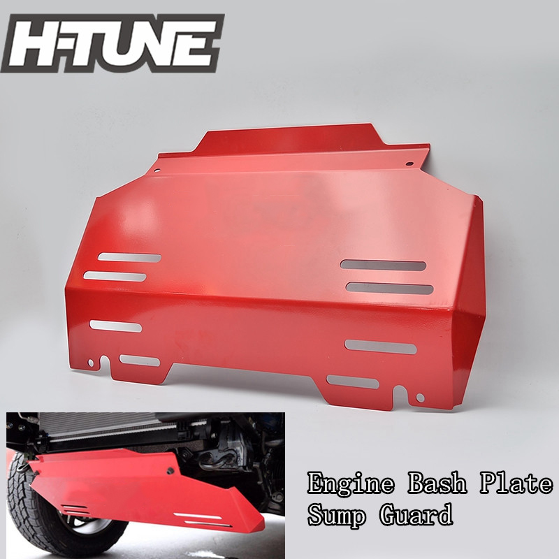 H-TUNE 4x4 Pickup 4mm Front Guard Engine Bash Plate Cover Car Bottom Skid Plate For Hilux REVO 2015+ 2015 2017 car wind deflector awnings shelters for hilux vigo revo black window deflector guard rain shield fit for hilux revo