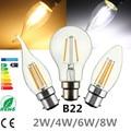 COB LED Light Edison Bulb B22 2W 4W 6W 8W LED Globle Candle Flame Retro Filament Light Lamp Bulbs Warm / White Lighting AC220V
