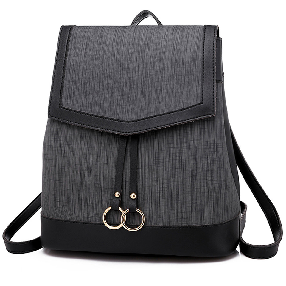 9bea828389a9 OCARDIAN Fashion Women's High Quality Leather Zip Outdoor Simple Solid  Color Backpack Preppy Style Student mochilas Bags Jul11