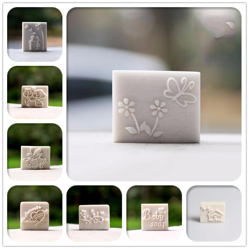 Free Shipping 100%natural Handmade Soap Pattern Mini Diy Soap Stamps Chaprter Seal 3*2cm
