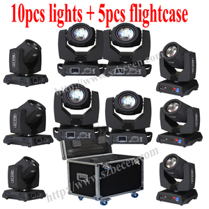 Image 1 - 10pcs 7R 230W  Flight Case Moving Head Light Stage Professional DJ Lighting Shipping From Spain No Fee