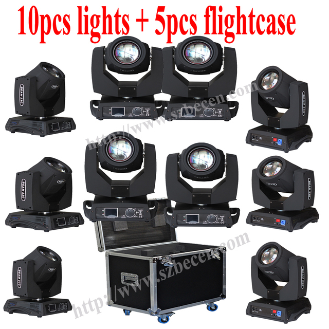 10pcs 7R 230W  Flight Case Moving Head Light Stage Professional DJ Lighting Shipping From Spain No Fee