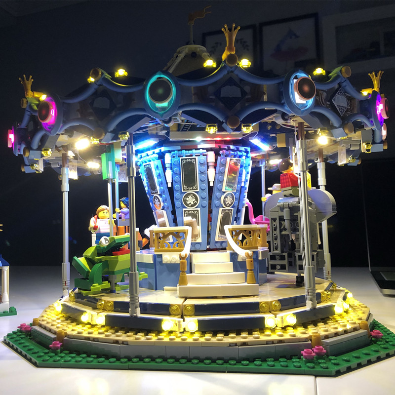 Led light kit with battery box for lego 10257 and 15036 Street Series The New Carousel Set (the bricks set not included) pilcher r the carousel