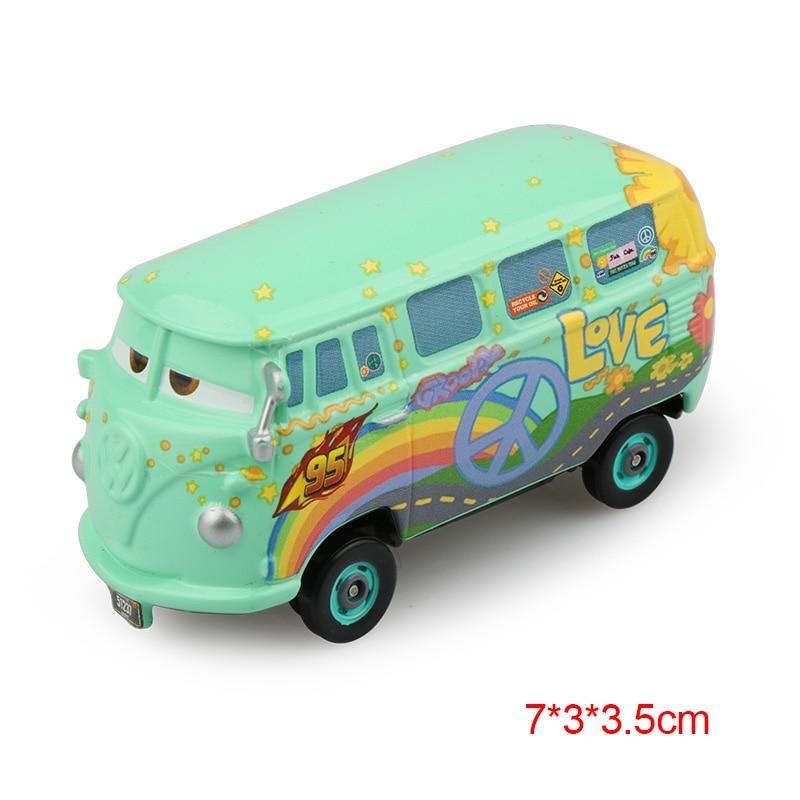 Дисней Pixar Тачки 2 3 Молния Маккуин матер Джексон шторм Рамирез 1:55 литье под давлением автомобиль металлический сплав мальчик малыш игрушки Рождественский подарок - Цвет: Fillmore