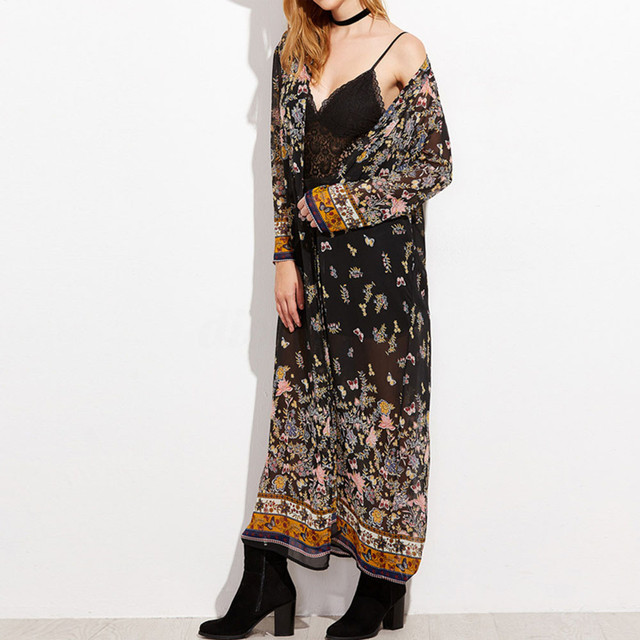 Full-Length Floral Kimono 5