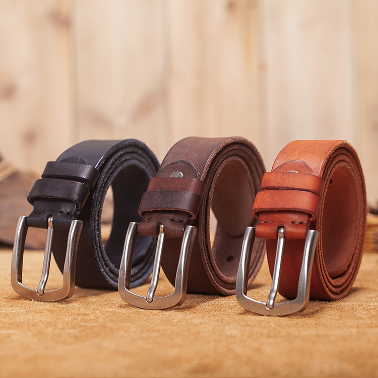 VAMOS KATOAL Men s Pin Buckle Belt with genuine leather Belts for Men luxury brand male