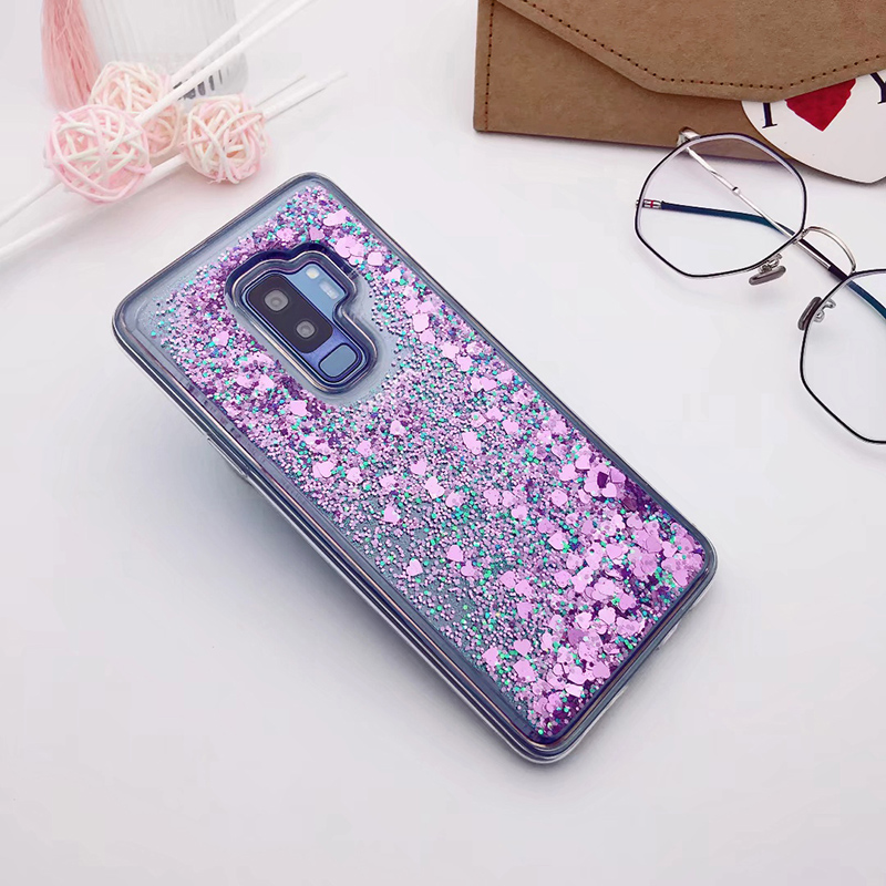 for Samsung Galaxy S9 case Back cover Bling Glitter Dynamic Quicksand Liquid Case for samsung S9 plus cover Galaxy S9 coque (7)