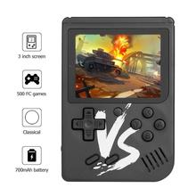 Built-in 500 Classic Games Retro Console 3.0 inch LCD Screen Game Console Portable Mini Handheld Gaming Player for Kids Children