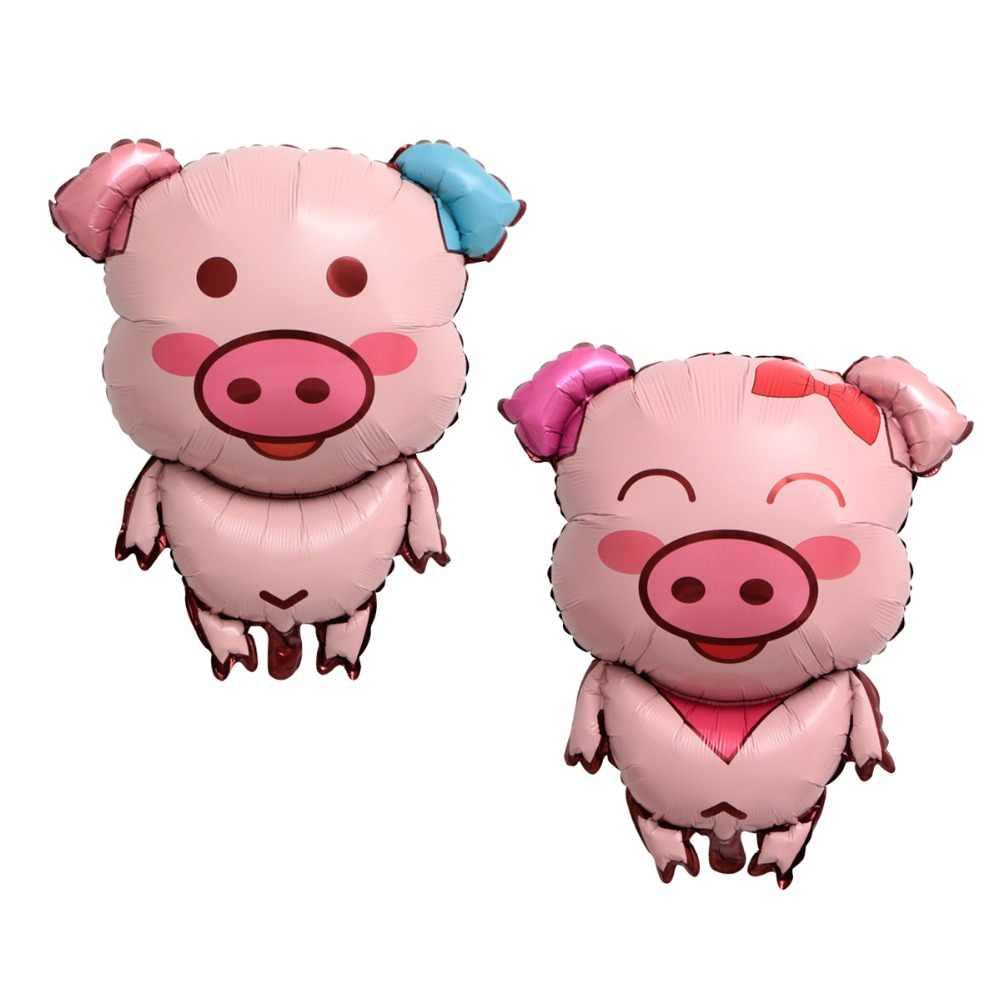 Kuchang 1 шт. большой свиной фольги прогулки воздушный шар Baby Shower мальчик девочка дети с днем рождения украшения животных Свинья голова воздушный шар