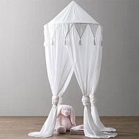 3 Colors Hanging Kids Baby Bedding Dome Bed BreathableChiffon Mosquito Net Bedcover Curtain For Kids Reading Playing Home decora