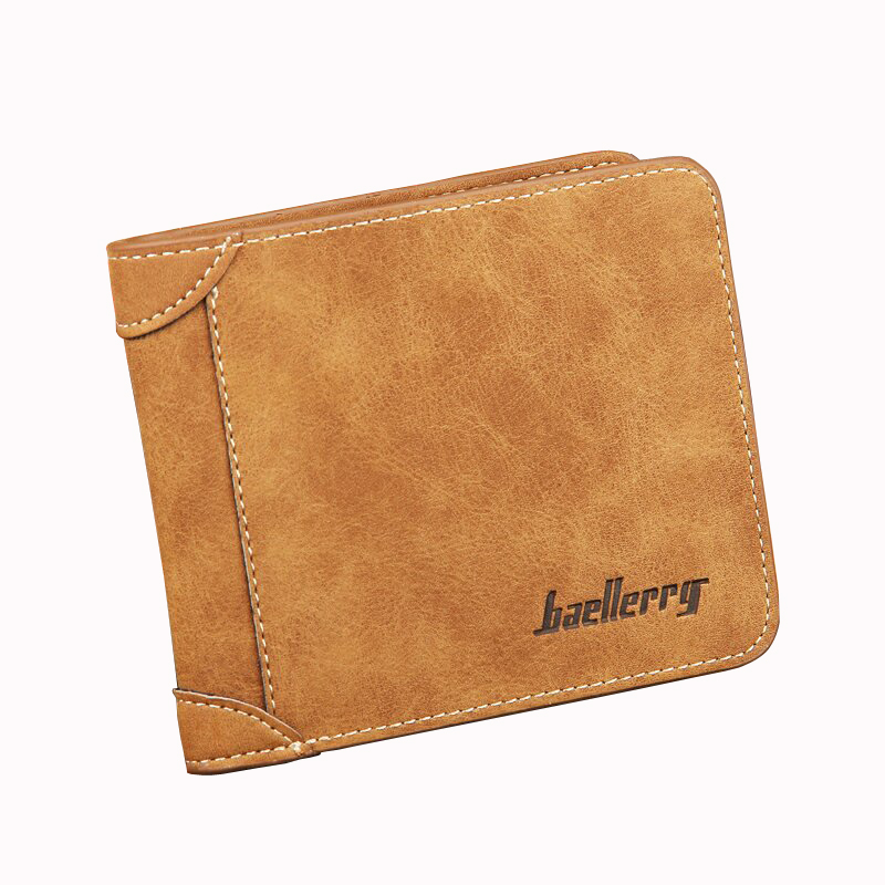 Baellerry Vintage Men Short Wallet Coin Purses Male Scrub Leather Billfold Money Pocket Passport Cover Case Card Holders Clips genuine leather brand baellerry men cow leather short wallet coin purses male billfold money pocket credit card holder carteira
