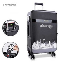 noble high quality PU Leather Rolling Luggage Spinner men Business Brand Suitcase Wheels 20 inch Women UBS Cabin Trolley