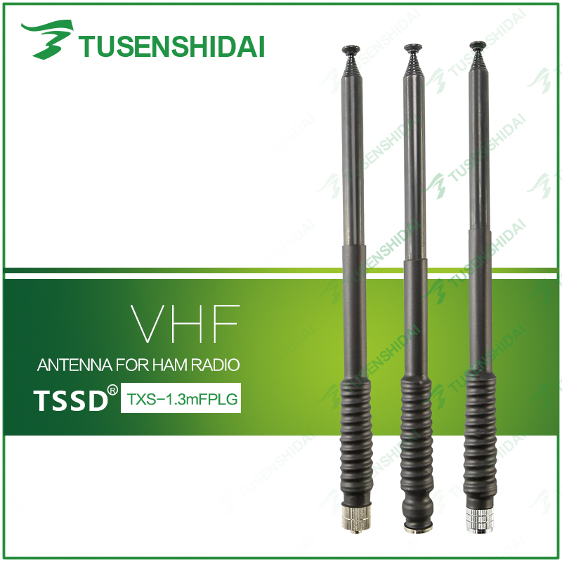 Hot Sell 136-174Mhz VHF Rubber Telescopic Long Walkie Talkie Antenna TXS-FPLG