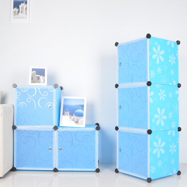 Combination Storage Cabinet Diy Resin Film Finishing Plastic Box