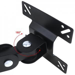 Image 3 - 15 kg ajustável 14   27 Polegada tv suporte de montagem na parede painel plano tv quadro suporte rotação de 180 graus para lcd led monitor pan plana
