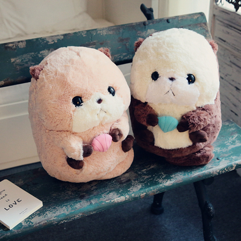 купить Nooer Kawaii Cute Fluffy Plush Otter Toy Stuffed Plush Animals Otter Dolls Kid Children Girlfriend Birthday Gift Free Shipping по цене 781.92 рублей