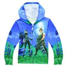 Boys T shirts FFortnitedcosplay Boys Hoodie Coat Children Sweatshirt Boys Hoodies Casual Kids Jacket Outerwear Children