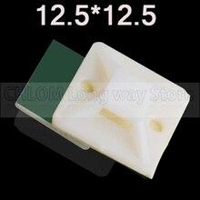 12,5*12,5 нейлоновое крепление для галстука зеленый клей Тип позиционирования кабеля пластик самоклеющиеся Кабельные стяжки крепление База держатель фиксированное сиденье 50 шт