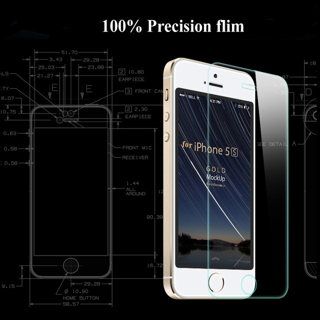 Front and Back 2X Tempered Glass for iPhone X 8 7 6 6S Plus Screen Protector For iPhone 4 4S 5 5s SE Protective Gehard glas sklo 2