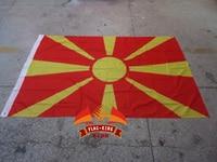 Македонический национальный флаг, 100% полиэстер, 120*180 см, анти-УФ, цифровая печать, флаг король, македонический баннер