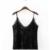 Más nuevo 2017 de Terciopelo Negro de Encaje camisola sin Mangas Sexy Cuello En V Partido Mujeres Camis Tops Streetwear Verano Blusa Entallada XDWM121