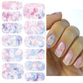 Fashion Nail Stickers Embossed Pink Flowers Design Nail Art Decal Tips Stickers Sheet Manicure
