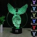 Criativo 3d ilusão lâmpada led night light the expendables águia crânio projeto novelty acrílico descoloração lâmpada atmosfera