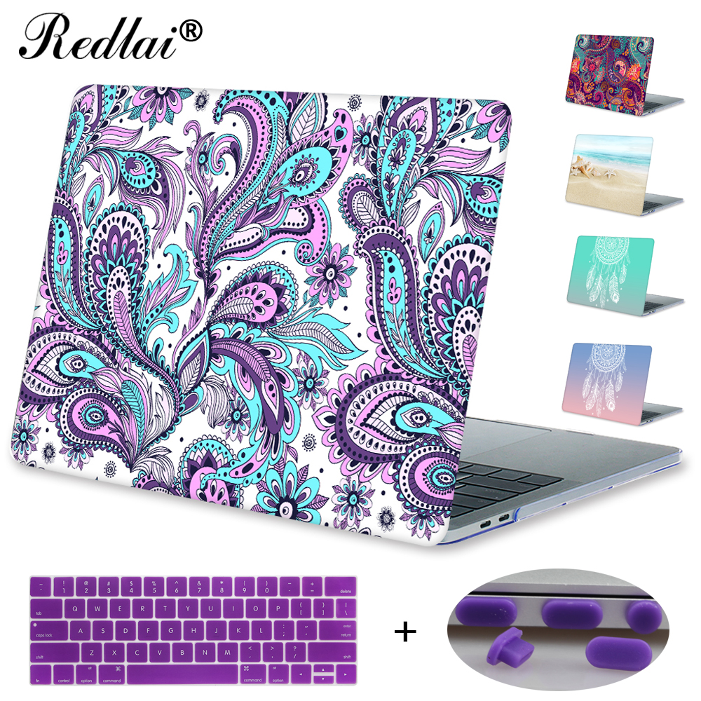 Redlai For Macbook Pro 13 15 with Touch bar 2016 & 2017 A1706 Paisley Print Plastic Hard case For Macbook Air Pro 11 13 inch худи print bar марко поло