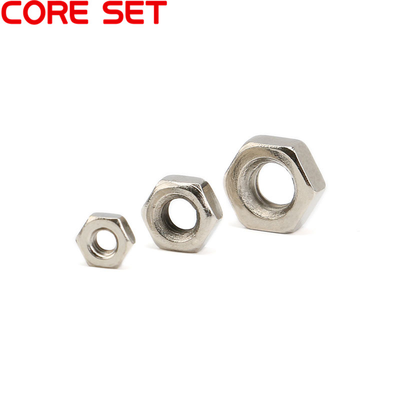 100Pcs/lot DIN934 M2 M3 M4 Carbon Steel Hexagon Nut Hex Nuts Metric Thread Suit For Screws Bolts HW010 100pcs lot new m3 nut hex stainless steel screws thread nutsert hexagon nuts metric thread screw hy398 100