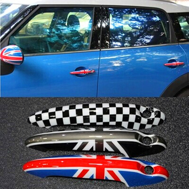 Car styling MINI COOPER Countryman Union jack Door Handle Sticker ...