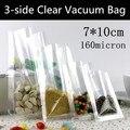 1000 p! 7x10 cm Food-grade Transparente Bolsa de Vácuo, PA/PE Sacos De Armazenamento de Calor selo para o Alimento, Jóias Embalagens & Display Eletrônico, Anti-odor