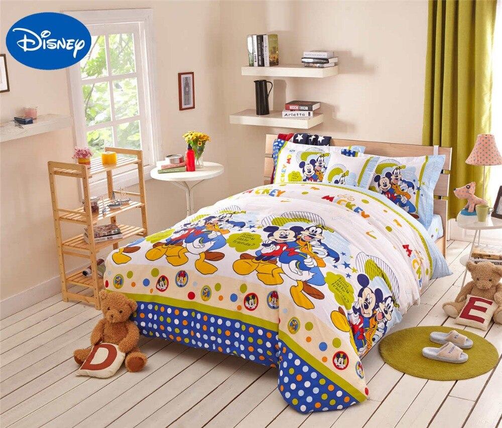 Mickey Mouse Donald canard couette ensembles de literie SingleTwin complet reine couvre-lits Disney Cartoon 100% coton bébé garçons Hoom décor