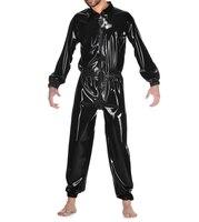 Латексная одежда, резиновый латексный спортивный костюм, боди, одежда из латекса для мужчин