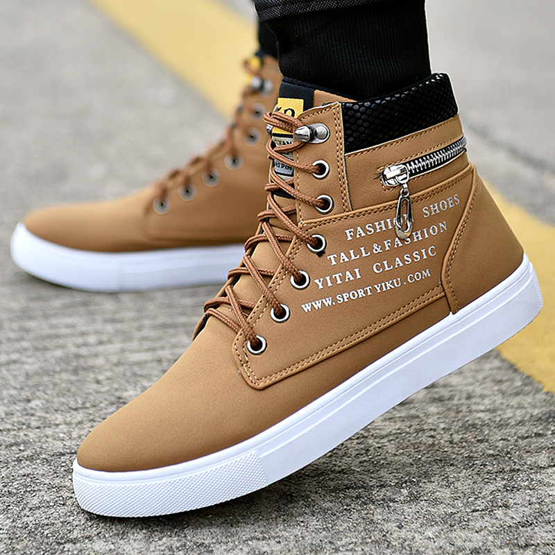 Fashion Spring Men Casual Shoes New High-top Shoes