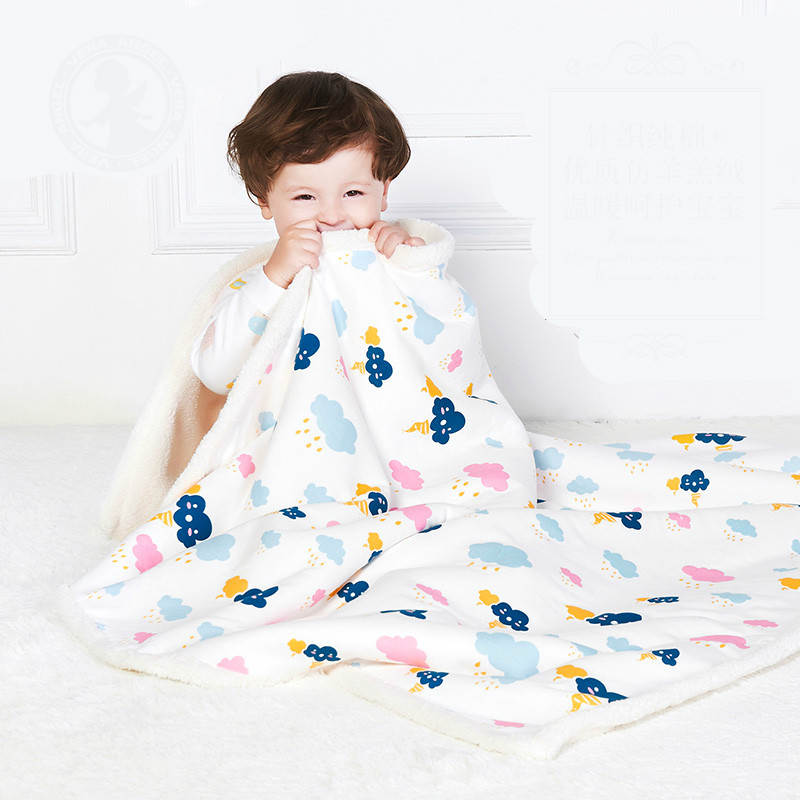 все цены на Luxury Multifuction Baby Blanket Double-sided Stroller Blanket Baby Bed Sheet Baby Bath Towel T01 онлайн
