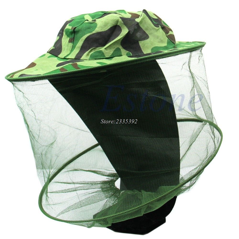Insect Bee Mosquito Resistance Bug Net Mesh Head Face Protector Fishing Cap Sun Hat