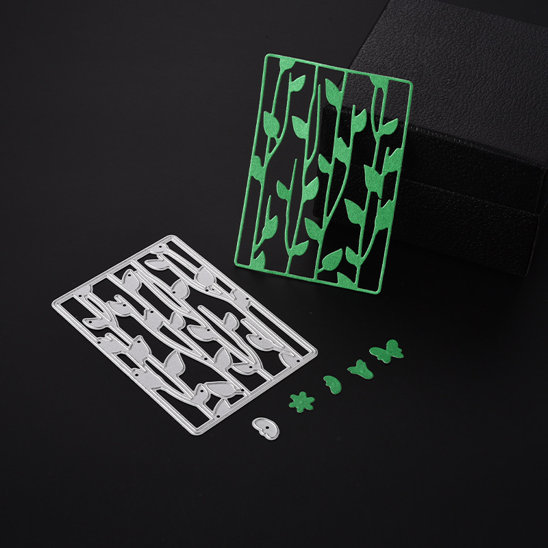 2018 New 3D Girl DIY Metal Cutting Dies and Scrapbooking For Paper Making Leaves Stencil Embossing Stamps Frame Card Craft